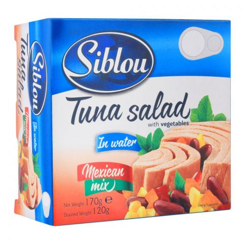 Siblou Tuna Salad With Vegetables, Mexican Mix, 170g