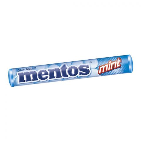 Mentos Chewy Dragees, Mint, Roll, 29g
