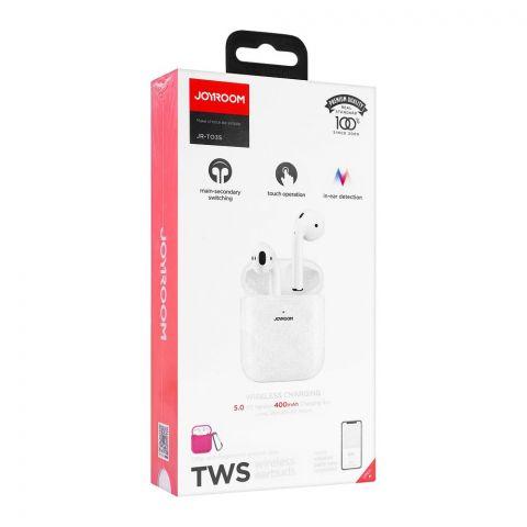 Joyroom Bilateral TWS Wireless Earbuds, White, JR-T03S