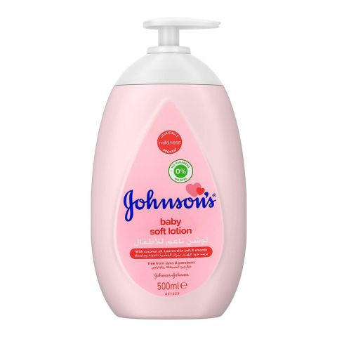 Johnson's Baby Soft Lotion, Paraben Free, UAE, 500ml