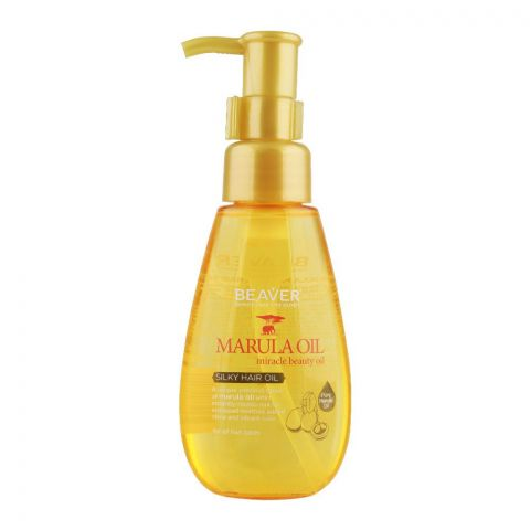 Beaver Marula Oil Miracle Beauty Oil Silky Hair Oil, For All Hair Types, 100ml