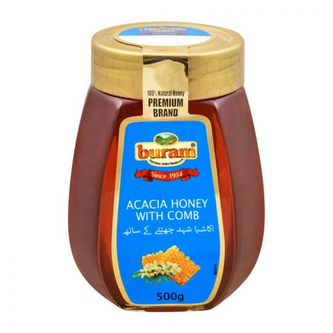 Buram Acacia Honey With Comb, 500g