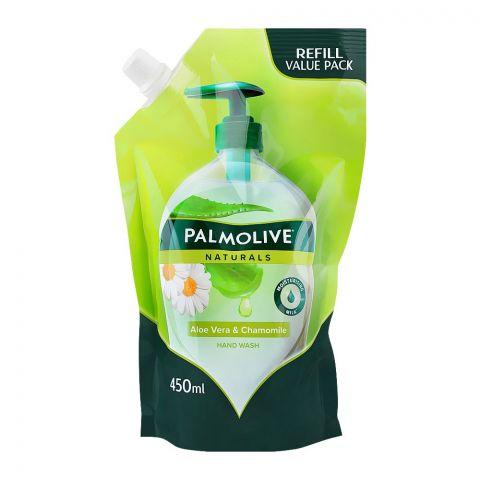 Palmolive Naturals Aloe Vera & Chamomile Liquid Hand Wash, Refill, 450ml, Pouch