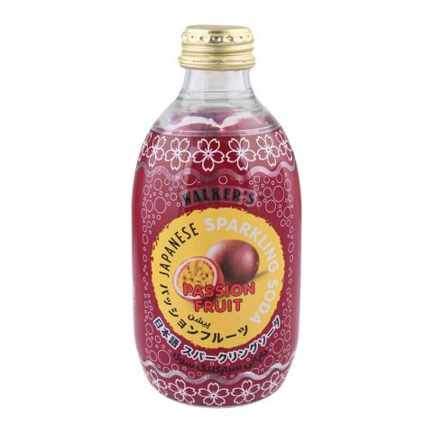 Walker's Japanese Sparkling Soda, Passion Fruit 290ml