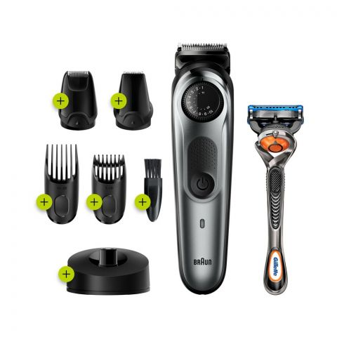 Braun Beard Trimmer 7, Rechargeable, 39 Length Settings, Black, BT7240