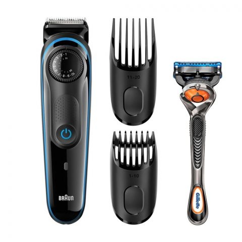 Braun Beard Trimmer, Rechargeable, 39 Length Settings, Black, BT3940
