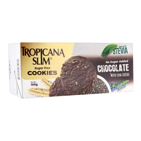 Tropicana Slim Sugar Free Cookies, Chocolate With Chia Seed, 100g
