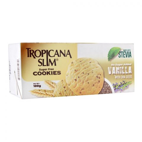 Tropicana Slim Sugar Free Cookies, Vanilla With Chia Seed, 100g