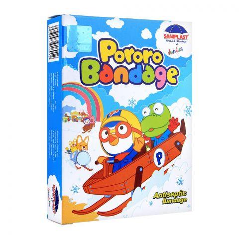 Saniplast Junior Pororo Antiseptic Bandage, Ice Skating, 20-Pack