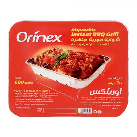 Orinex Disposable Instant BBQ Grill, 600g
