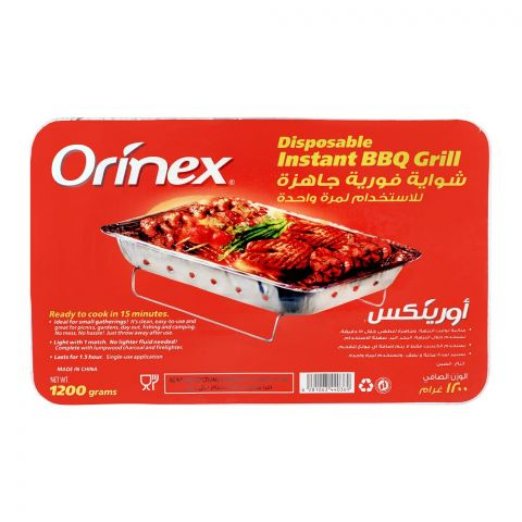 Orinex Disposable Instant BBQ Grill, 1200g