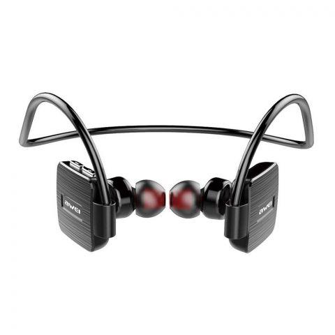 Awei Wireless Smart Sports Bluetooth Headset, Black, A848BL
