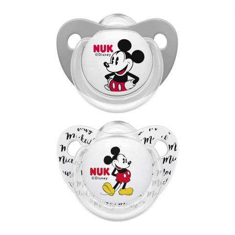 Nuk Mickey Mouse Silicone Pacifier, 0-6m, 10730041