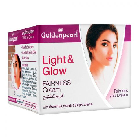 Golden Pearl Light & Glow Fairness Cream, With Vitamin B3 + C, 70ml