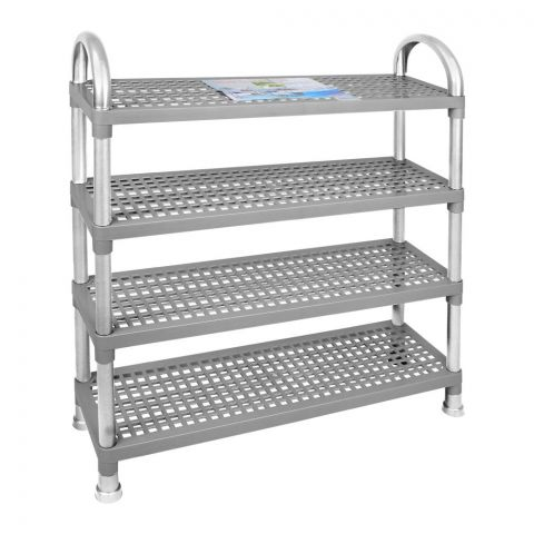 Lion Star Shelf Stand, 4 Stacks, Gray, A-47