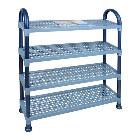 Lion Star Shelf Stand, 4 Stacks, Blue, A-47