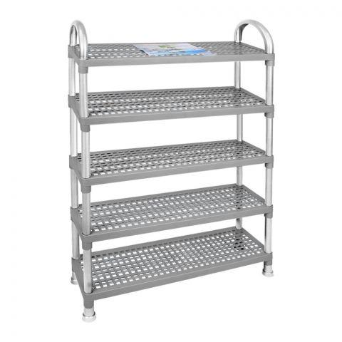 Lion Star Shelf Stand, 5 Stacks, Gray, A-48