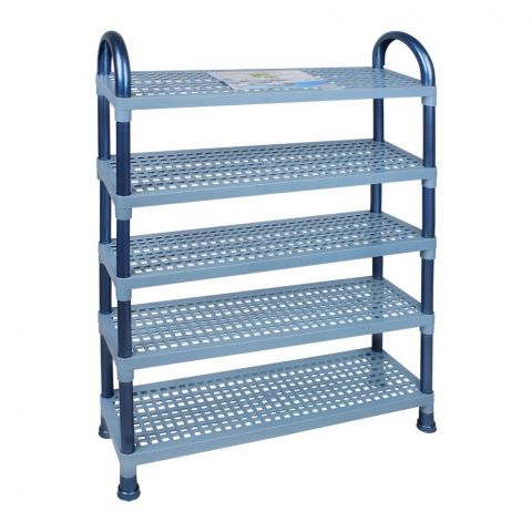 Lion Star Shelf Stand, 5 Stacks, Blue, A-48