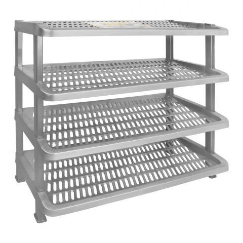 Lion Star Maxi Shoes Rack, 4 Stacks, Gray, A-54