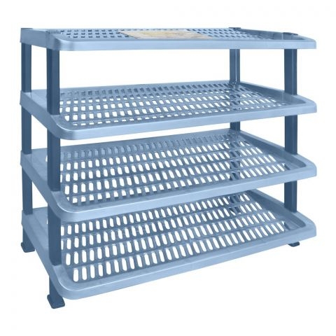 Lion Star Maxi Shoes Rack, 4 Stacks, Blue, A-54