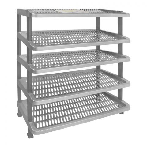 Lion Star Maxi Shoes Rack, 5 Stacks, Gray, A-55