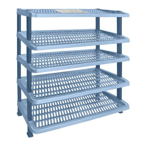 Lion Star Maxi Shoes Rack, 5 Stacks, Blue, A-55