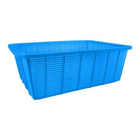 Lion Star Square Multi-Purpose Plastic Basket, Blue, Large, BW-28