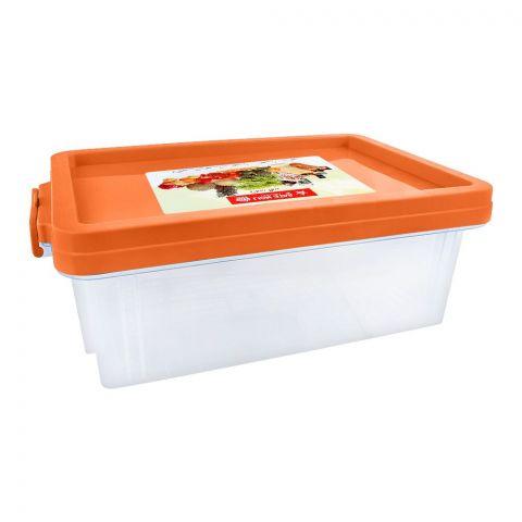 Lion Star Clear Box Multi-Purpose Container, No. 30, Orange, FX-5