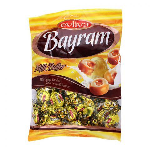 Evliya Bayram Milk Butter Candy, 350g Pouch