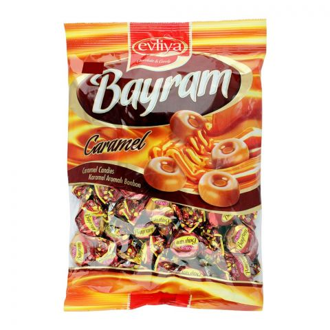 Evliya Bayram Caramel Candy, 350g Pouch