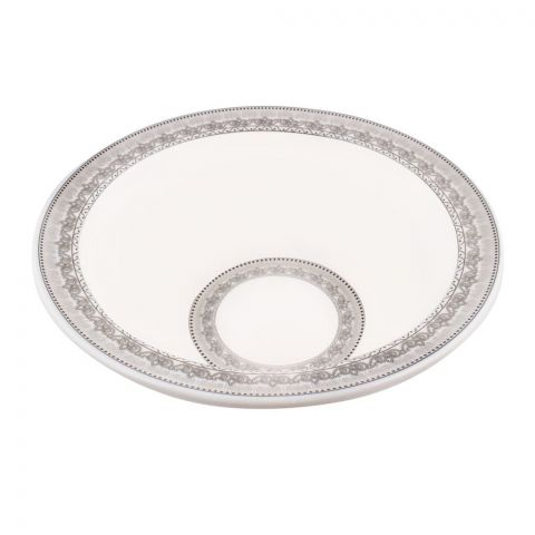 Sky Melamine Bowl, Grey 8 Inches