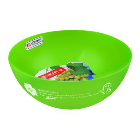 Lion Star Ruby Microwave Bowl, Green, 450ml, MW-17