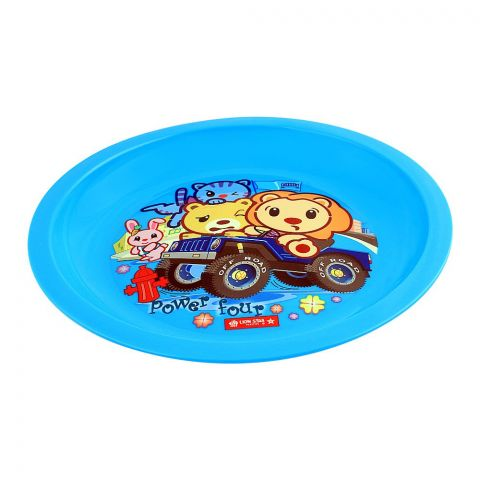 Lion Star Emily Kids Dinning Plate, 03, Blue, MW-53