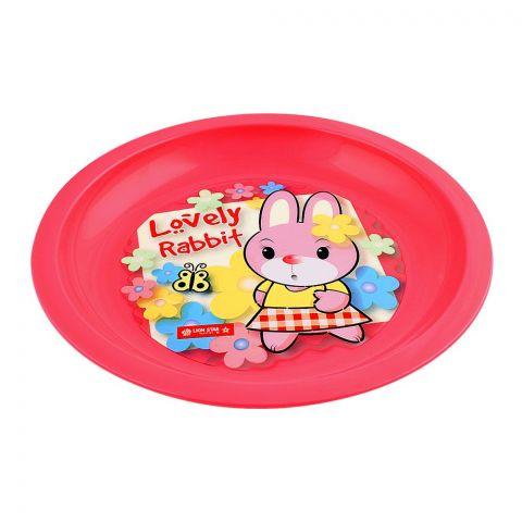 Lion Star Emily Kids Dinning Plate, 03, Pink, MW-53