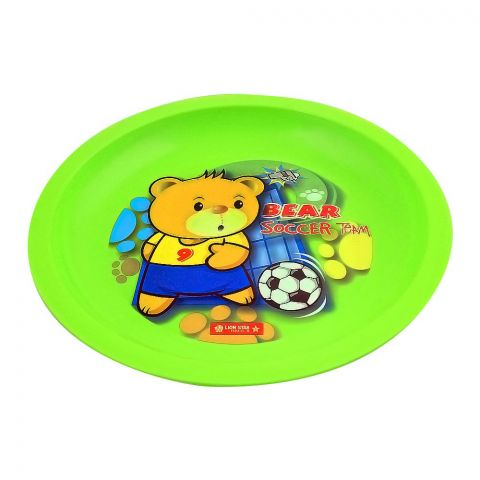 Lion Star Emily Kids Dinning Plate, 03, Green, MW-53