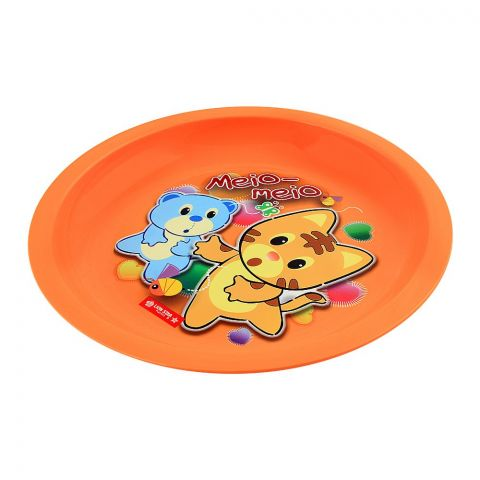 Lion Star Emily Kids Dinning Plate, 03, Orange, MW-53