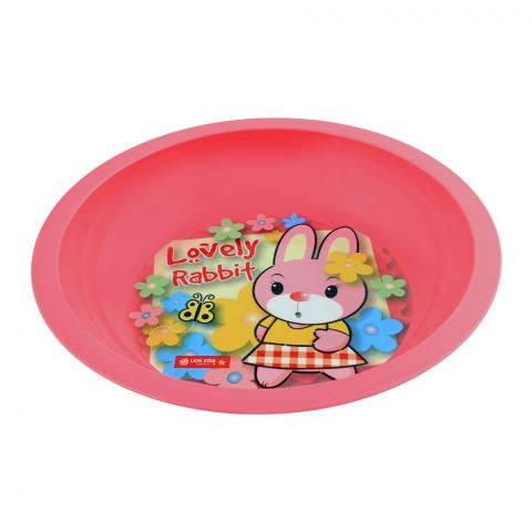 Lion Star Emily Kids Deep Dining Plate, 04, Pink, MW-54