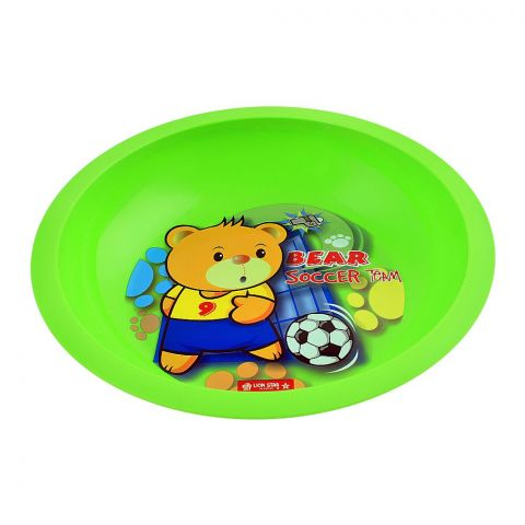 Lion Star Emily Kids Deep Dining Plate, 04, Green, MW-54