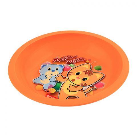 Lion Star Emily Kids Deep Dining Plate, 04, Orange, MW-54