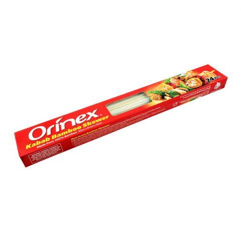 Orinex Kabab Bamboo Skewer, Flat, 35cm x 9mm, 3mm, 24-Pack