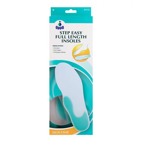 Oppo Medical Step Easy Full Length Insoles, Silicone, Medium, 5410