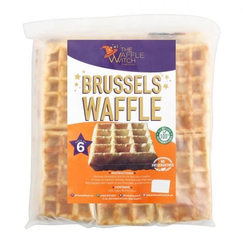 The Waffle Witch Brussels Waffles, 6-Pack