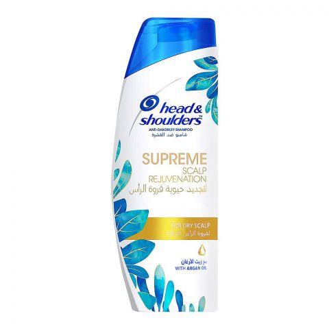 Head & Shoulders Supreme Scalp Rejuvenating Anti-Dandruff Shampoo, With Argan Oil, For Dry Scalp, 400ml