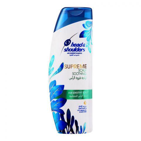 Head & Shoulders Supreme Scalp Soothing Anti-Dandruff Shampoo, With Argan Oil & Aloe Vera, For Sensitive Scalp, 200ml