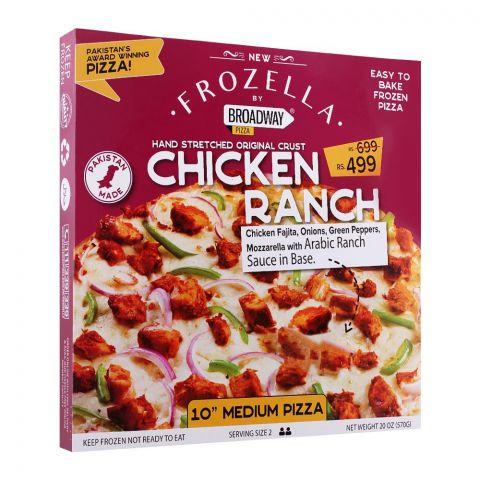 Broadway Frozen Pizza, Chicken Ranch, 10 Inches, Medium, 570g