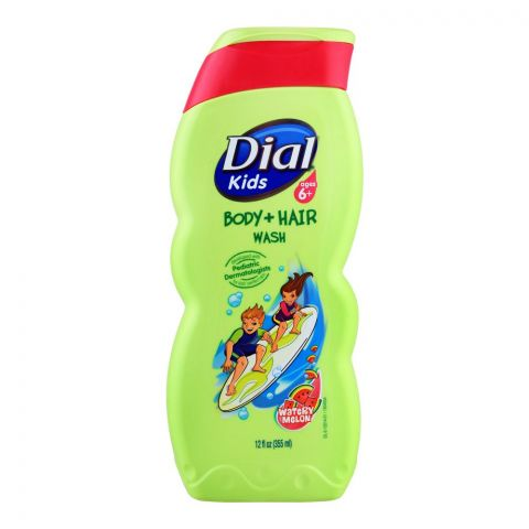 Dial Kids Watermelon Body + Hair Wash, 355ml
