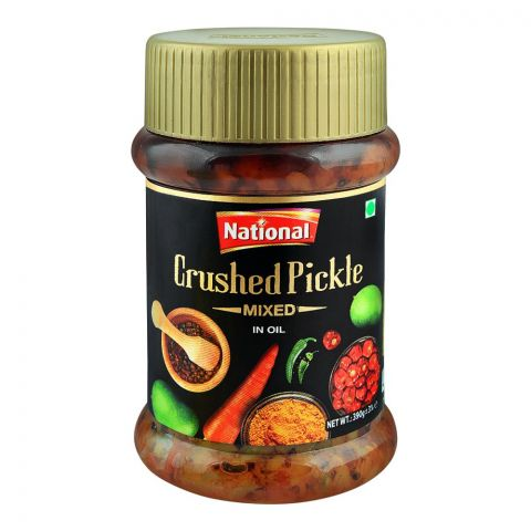 National Crushed Pickle In Oil, Mixed, 390g