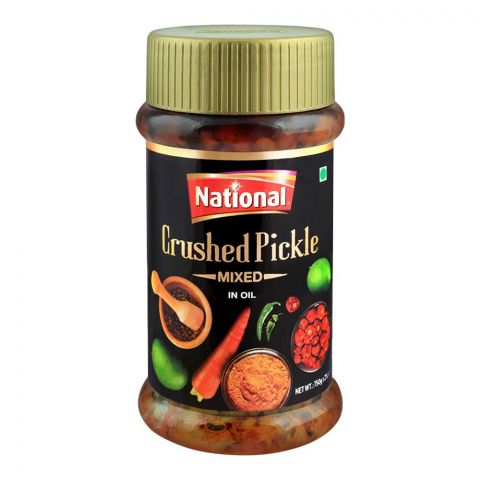 National Crushed Pickle In Oil, Mixed, 750g
