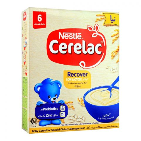 Nestle Cerelac Recover Low Lactose, 6 Months+, 150g