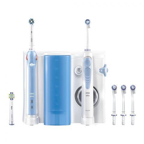 Oral-B Health Center, Oxyjet Cleaning System + Pro 2000 Rechargeable Electric Toothbrush, 3724